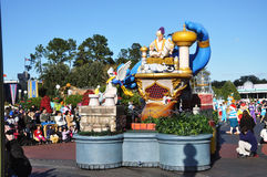 Aladdin Parade Float in Disney World Orlando. Aladdin Parade Float in A Dream Come True Celebrate Parade in Disney World Orlando, Florida, USA Stock Image