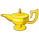 Aladdin's lamp Royalty Free Stock Images