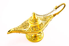 Aladdin`s  magic genie  lamp Stock Photos