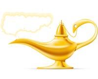 Aladdin's Magic Lamp. Golden Aladdin's Magic Lamp with cloud Stock Photos