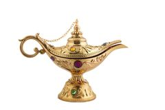 Aladdin's magic lamp Stock Image