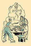 Aladdin and the Wonderful Lamp Royalty Free Stock Photo