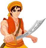 Aladdin y sable maravilloso Imagenes de archivo