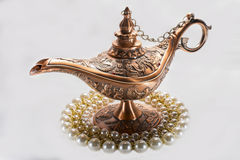 Aladdins lampa Arkivfoton