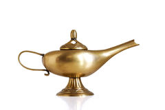 Aladin. Oil lamp, golden Genie lamp royalty free stock photography