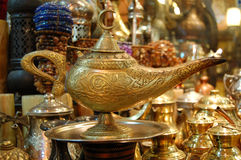 Aladin lamp !. A lamp (aladin ?) sold in the Gran Bazar in Istanbul stock photography