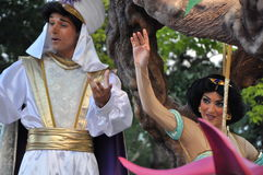 Aladin and princess Jasmine Stock Images