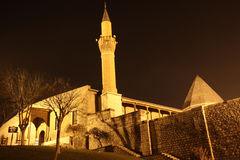 The Alaeddin Mosque at night, Konya. Stock Photo