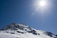 alagna日滑雪 图库摄影