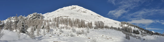 Alps winter panorama 4. Valsesia Alps winter landscape, Otro view Royalty Free Stock Images