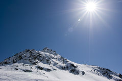 Alagna Ski Day Stock Photography