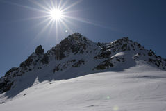 Alagna Ski Day. Sunny ski day on Alagna-Gressoney's slopes Stock Image