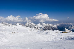 Alagna Ski Day. Sunny ski day on Alagna-Gressoney's slopes Royalty Free Stock Image