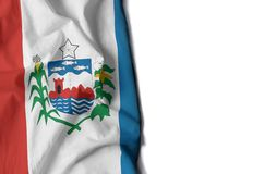 Alagoas wrinkled flag, space for text. Flag of alagoas, brazilian state wrinkled flag with space for text Royalty Free Stock Image