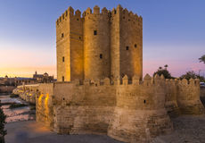 alahorra Tower on the Roman Bridge in Cordoba, Andalusia, Spain Royalty Free Stock Photo