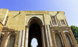 Alai Darwaza or Alai Gate, the entrance to the Quwwat-Ul-Islam Mosque at Qutub Minar complex in New Delhi stock photo