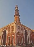 Alai-Darwaza et Qutub Minar, Delhi, Inde Photo libre de droits