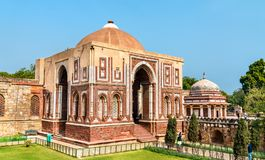 Alai Darwaza and Imam Zamin Tomb at the Qutb Complex in Delhi, India stock images