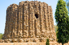 Alai Minar. The incomplete Alai Minar(Tower), a part of the Qutb Complex (A World Heritage Site), Delhi, India royalty free stock photo