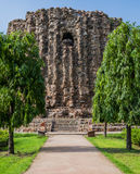 Alai Minar niedokończony ceglany minaret Qutb kompleks, Delhi, India Obraz Royalty Free