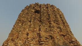 Alai Minar in the Qutub Minar complex stock footage
