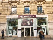 Alain Afflelou Store Champs Elysées Paris Arkivfoto