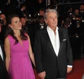Alain Delon y Aurelie Filippetti Foto de archivo