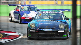 Alain Li racing at Porsche Carrera Cup Asia Royalty Free Stock Photos