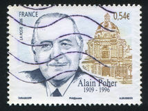 Alain Poher Lizenzfreies Stockbild