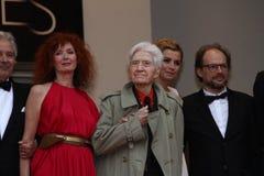 Alain Resnais, Sabine Azema Stockbild