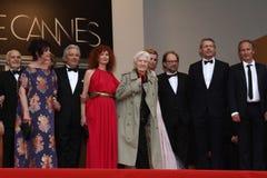 Alain Resnais, Sabine Azema, Pedro Arditi, Lambe Foto de archivo libre de regalías