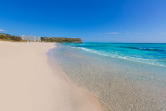 Alaior Cala Son Bou in Menorca turquoise beach at Balearic Stock Photo