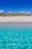 Alaior Cala Son Bou in Menorca turquoise beach at Balearic Stock Image