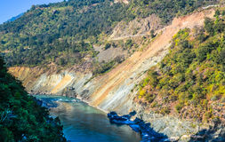 Alaknanda-Fluss Stockfoto