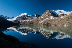 Alakol lake in Kyrgyzstan, Tian Shan mountains Stock Photo