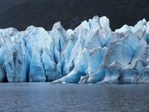 Alaksa Glacier Up Close - Crevasse & Reflection Stock Photography