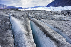 Alaksa Glacier Up Close - Crevasse Stock Photography