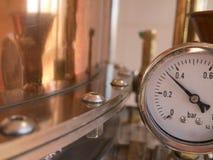 Alambicco del tester di pressione immagine stock libera da diritti