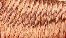 Alambre de cobre Imagen de archivo libre de regalías