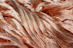 Alambre de cobre Fotografía de archivo libre de regalías