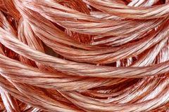 Alambre de cobre Foto de archivo libre de regalías