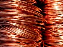 Alambre de cobre de la fábrica Foto de archivo