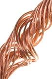 Alambre de cobre, el concepto de la industria energética Imagenes de archivo