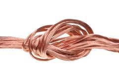 Alambre de cobre, el concepto de la industria energética Fotografía de archivo libre de regalías