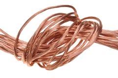 Alambre de cobre, el concepto de la industria energética Imagen de archivo libre de regalías