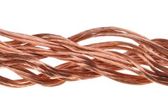 Alambre de cobre, el concepto de la industria energética Fotos de archivo