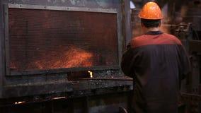Alambre de la fabricación Trabajos de acero almacen de video
