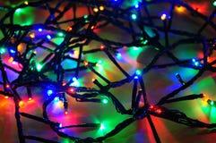 Alambre de las luces de la Navidad Foto de archivo