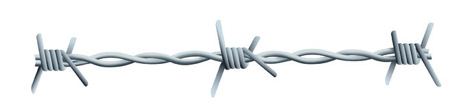 Alambre de púas - un ejemplo de un poco de alambre de púas foto de archivo libre de regalías