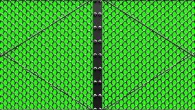 Alambre de plata Mesh Gates ilustración del vector